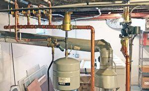 caldera de agua caliente