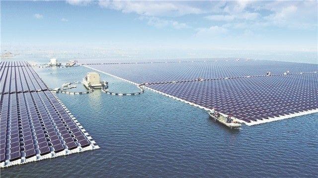 Granja solar Sungrow en Huainan, China