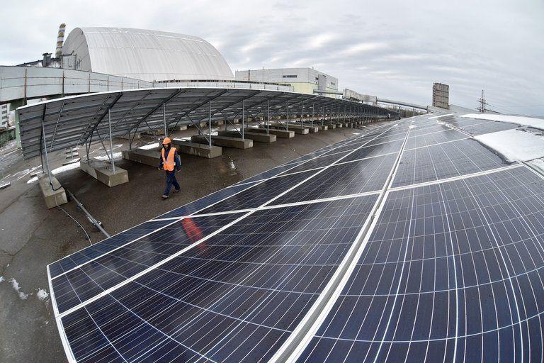 Planta solar en Chernobyl