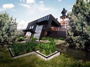 jardin en casa ecologica