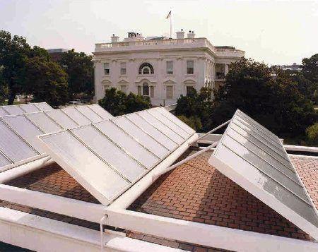 paneles solares en la Casa Blanca