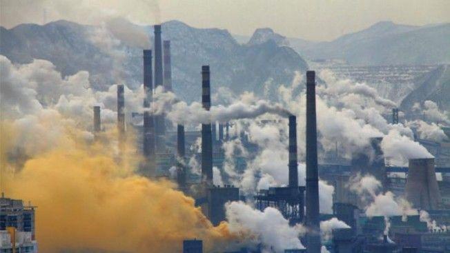 aire contaminado por la industria