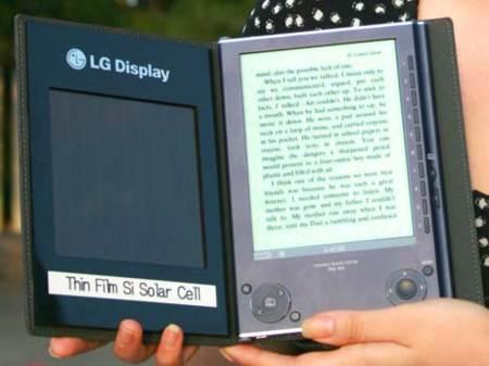Lector de libros electrónicos con Células solares de silicio