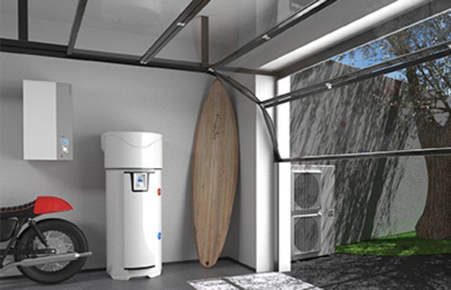 caldera con calentador para agua caliente